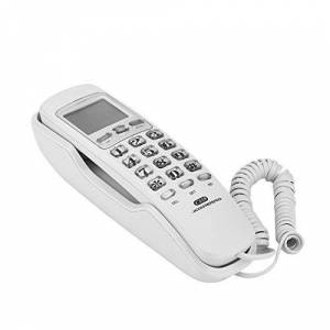 Lazmin Téléphone  la Maison fixé au Mur, Appel téléphonique Filaire avec Rappel Unique, sans interférence, avec afficheur - Publicité