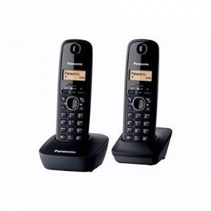 Panasonic KX-TG1612FRH Téléphone Duo sans fil DECT sans répondeur Noir [Version Franaise] - Publicité