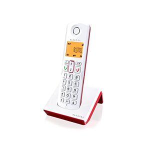 Alcatel S250 Téléphone DECT Identification de l'appelant Rouge, Blanc - Publicité