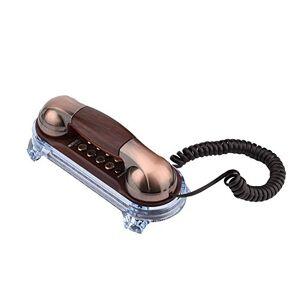 fosa Téléphones Mural Vintage, Téléphonés Fixes Filairerétro Fashion Lumire de fond pour Maison/Htel(Cuivre rouge) - Publicité