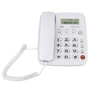 Bewinner Filed Phone, téléphone de Bureau, téléphone Fixe sans Fil avec répondeur pour la Maison/htel avec Design sans Batterie/Identification de l'appelant/présence de l'appelant(Blanc) - Publicité