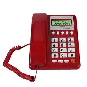 VBESTLIFE Téléphone Filaire Fixe, Téléphone Automatique DTMF/FSK en Mode Double Téléphone avec Fil Convient pour la Maison, Le Bureau, et l'htel etc - Publicité