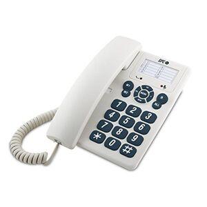 SPC Original Téléphone Fixe (3 mémoires directes, Bureau et Mur, 3 Niveaux sonores), Noir. 3602 - Publicité