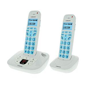 Logicom Confort 255T Double Téléphones Sans fil avec Répondeur Blanc - Publicité