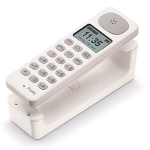 PUNKT . DP01 Téléphone Fixe sans Fil Design, DECT, Analogique, avec Répondeur Intégré, Mains Libres, Jusqu'  6 Combinés, pour la Maison ou Le Bureau Blanc - Publicité