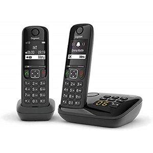 Siemens AS690A Duo Téléphone fixe sans fil avec répondeur 2 combinés Noir - Publicité