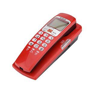 Richer-R FSK/DTMF Caller ID Téléphone Filaire téléphone avec Bouton Cristal, Bureau de téléphone Fixe Landline Extension téléphone pour la Maison(Rouge) - Publicité