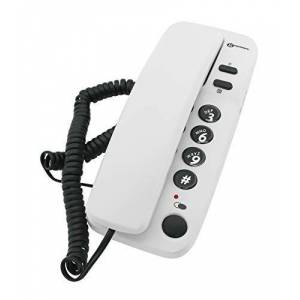 Best Price Square Telephone, Corded, Marbella White 6050EGPW by GEEMARC - Publicité