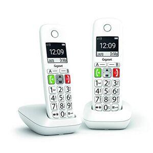 Siemens E290 Duo Téléphone Fixe sans Fil Blanc, 2 combinés avec Grand écran rétroéclairé, larges Touches, Fonction Blocage D'appels - Publicité
