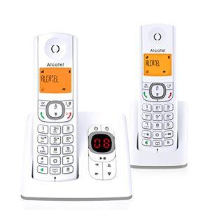 Alcatel F530 Voice Duo Téléphone sans fil DECT aux coloris contemporains, Répondeur intégré, Mains libres, Ecran rétroéclairé, Sonneries VIP, 10 mélodies d'appel Blanc/Gris - Publicité