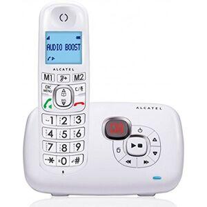 Alcatel XL385 voice- Téléphone sans fil ergonomique, Répondeur intégré, Design ergonomique, Mains libres, Grand écran, 2 mémoires directes, Amplification audio Blanc - Publicité