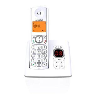 Alcatel F530 Voice Téléphone sans fil DECT aux coloris contemporains, Répondeur intégré, Mains libres, Ecran rétroéclairé, Sonneries VIP, 10 mélodies d'appel Blanc/Gris - Publicité