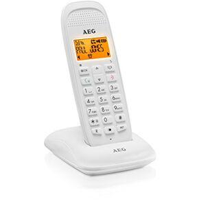 AEG Voxtel D81 Téléphone DECT sans fil avec fonction mains libres, Blanc - Publicité