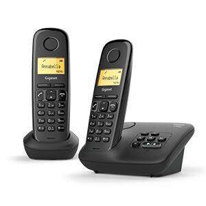 Siemens AL170A Duo Téléphone fixe sans fil DECT/GAP Répondeur Noir - Publicité
