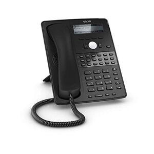 Snom Technology Snom Global Desk Telephone D725 (12 identités SIP, 18 touches de fonction multicolores, support VLAN, audio large bande) Noir - Publicité