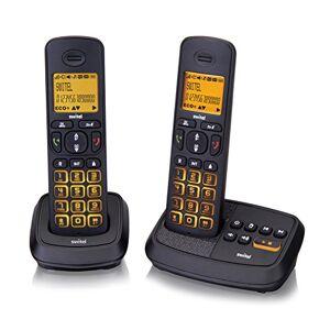 SWITEL DCT59072 Wizard Duo, set de deux téléphones sans fil DECT, répondeur, touches et écran lumineux, deux touches de numérotation directe - Publicité