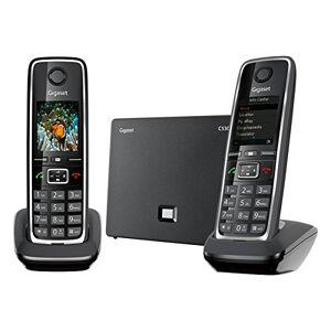 Siemens C530 IP Duo Téléphone sans Fil DECT Hybride Noir (C530IP/C570HX inclus) - Publicité