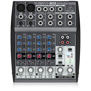 Behringer XENYX 802 Table de mixage Egaliseur tri-bande 2 Entrées micro 1000 g - Publicité