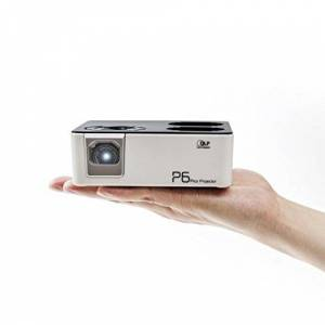 AAXA Technologies AAXA P6 Projecteur Pico, 600 Lumens, Entrées USB/microSD et HDMI, Lecteur multimédia embarqué, Del de 30 000 Heures, Autonomie de 80 Minutes, DLP. Publicité