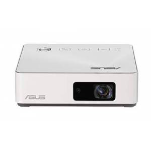 Asus S2 White Pico Projecteur Mini LED Portable HD Blanc 500 lumens HDMI & USB-C Batterie intégrée 6000 mAh automie 3,5 heures 1280 x 720 32 db Haut-parleurs intégrés - Publicité
