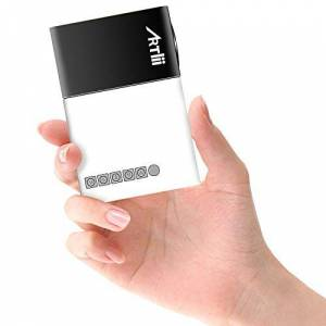 Artlii Mini Projecteur YG300, LED videoprojecteur Portable,Pico projecteur de Poche Compatible HDMI/USB/Smartphone, pour Cadeau pour Enfants,Loisirs Maison Film Theatre,Video - Publicité