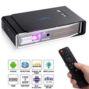 OTHA V5 Mini Projecteur, Pico Projecteur, 4K Vidéoprojecteur Full HD 3800 Lumens, 1280x800, 12000:1, Projecteur Portable Android DLP Link 3D, Supporte USB IR 4K HDMI AV - Publicité