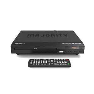 Majority Lecteur DVD Compact  Scholars, Port HDMI et câble Audio RCA pour connecter la télévision, Multi-Régions 1/2/3/4/5/6, Port USB, télécommande, DivX (Noir) - Publicité