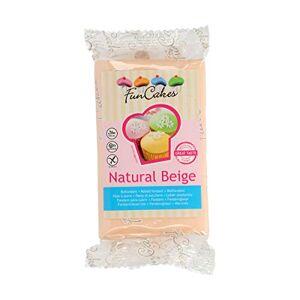 FunCakes Pte  Sucre Natural Beige Facile  Utiliser Lisse Flexible Doux Décoration de Gteaux Halal Casher sans Gluten 270 g - Publicité