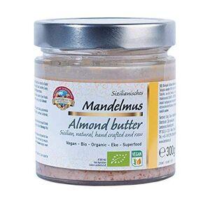 PEARLS OF SAMARKAND TREASURES OF THE SILK ROAD Beurre d'amandes crues siciliennes biologique 300g BIO Purée, 100% damandes, sans sel ni sucre, végétalien, almond butter - Publicité