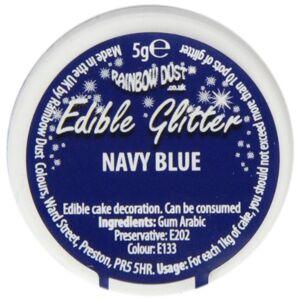 Rainbow Dust Navy Edible Glitter - Publicité
