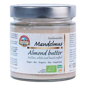 PEARLS OF SAMARKAND TREASURES OF THE SILK ROAD Beurre d'amandes blanches siciliennes biologique 300g BIO Purée, 100% damandes, sans sel ni sucre, végétalien, almond butter - Publicité