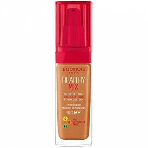 Bourjois Healthy Mix Fond de Teint Anti-Fatigue 60 Dark Amber 30 ml - Publicité
