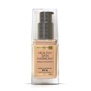 Max Factor Healthy Skin Harmony base, 30 ml, Sable doux 10 amandes chaud - Publicité