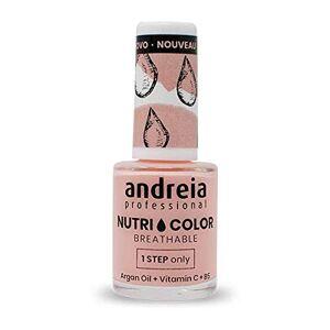Andreia Professional NutriColor Vernis  Ongles Vegan Respirant NC11 Rose 10.5ml - Publicité
