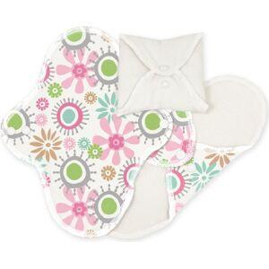 Imse Vimse ImseVimse Lot de 3 serviettes hygiéniques lavables en coton biologique Motif fleuri - Publicité