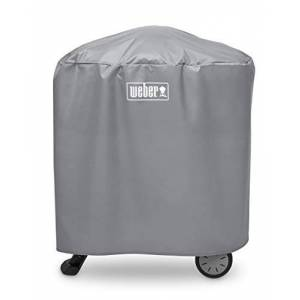 Weber Cover, Fits and Using Stand Or cart Housse de Grill, Compatible avec Q 100/1000 et 200/2000 en utilisant Le Support ou Le Chariot, Noir - Publicité