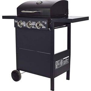 ACTIVA Action Grill Barbecue  gaz avec 3 brleurs 2,7 kW chacun Noir Grille chromée - Publicité