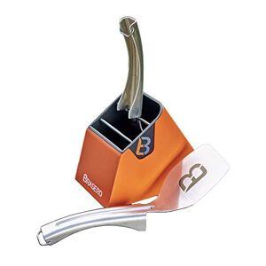 BRASERO Kit Spatules 2 spatules INOX 1 Support aimenté Clean Design - Publicité