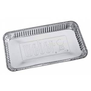 Weber 5 barquettes en aluminium  Pour barbecue  charbon 57cm - Publicité