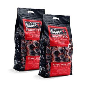Weber Briquettes de charbon de bois 16 kg. 16 kg Noir - Publicité
