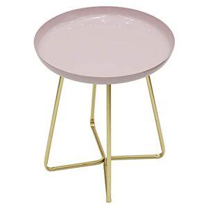 THE HOME DECO FACTORY HD6409 Table D'appoint Plateau Rond Glossy Rose, Acier INOX, 35 x 35 x 45 cm - Publicité