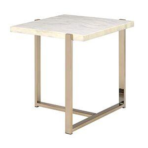 Acme Furniture Table d'appoint en imitation marbre et champagne - Publicité