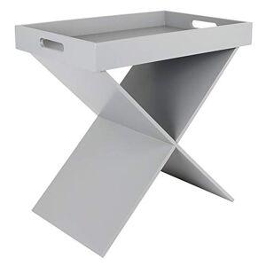 THE HOME DECO FACTORY HD6420 Table D'appoint Plateau Amovible, MDF, Gris, 46 x 48,5 x 32 cm - Publicité
