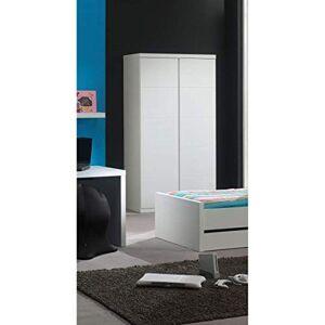 Vipack LARA Armoire 2 Portes, MDF, Blanc Lacqué - Publicité