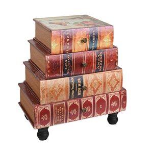 ts-ideen Commode Chiffonnier tagre  Livres Table Style Vintage Antique Tournure de Livres Antiques - Publicité