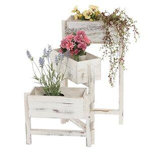Mendler tagre/jardinire/étagre  Plantes, Shabby, Vintage, Hauteur : 65cm ~ Blanc - Publicité