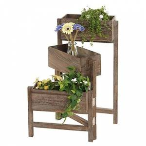 Mendler tagre/jardinire/étagre  Plantes, Shabby, Vintage, Hauteur : 65cm ~ Marron - Publicité