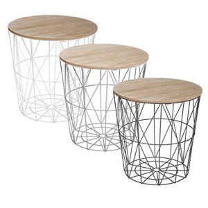 ATMOSPHERA CREATEUR D'INTERIEUR AC-Déco Table  café Kumi D 39.5 x 41 cm Noir - Publicité