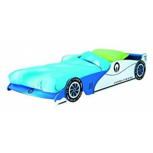 Demeyere Grand Prix Lit Voiture Extensible 90x190/200cm Coloris Bleu, MDF, 101,5x209x40,5 cm - Publicité