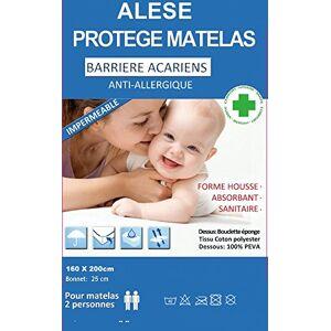 BNG Alése protge-matelas Imperméable Anti-Acariens Anti-Allergique (160 x 200) - Publicité